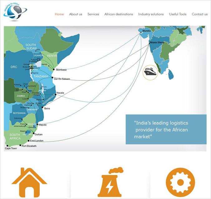 Logistics company website | Logistics Website Design Company